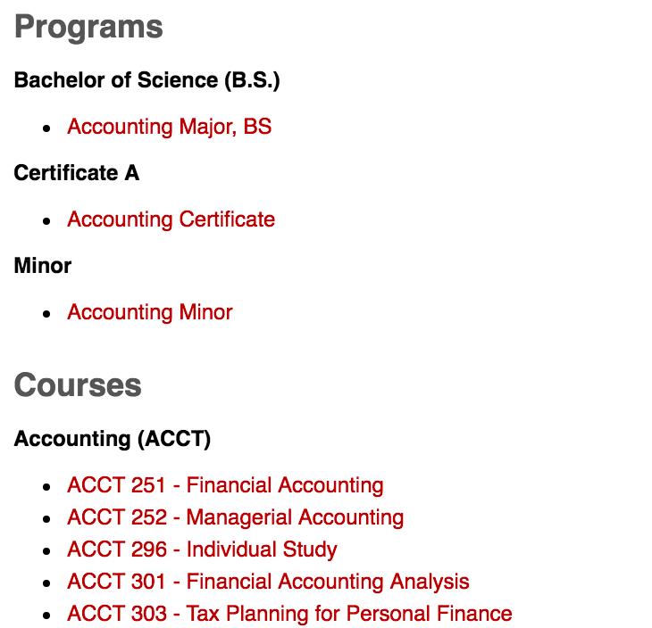 CWU Online Catalog - Central Washington University - Acalog ACMS™