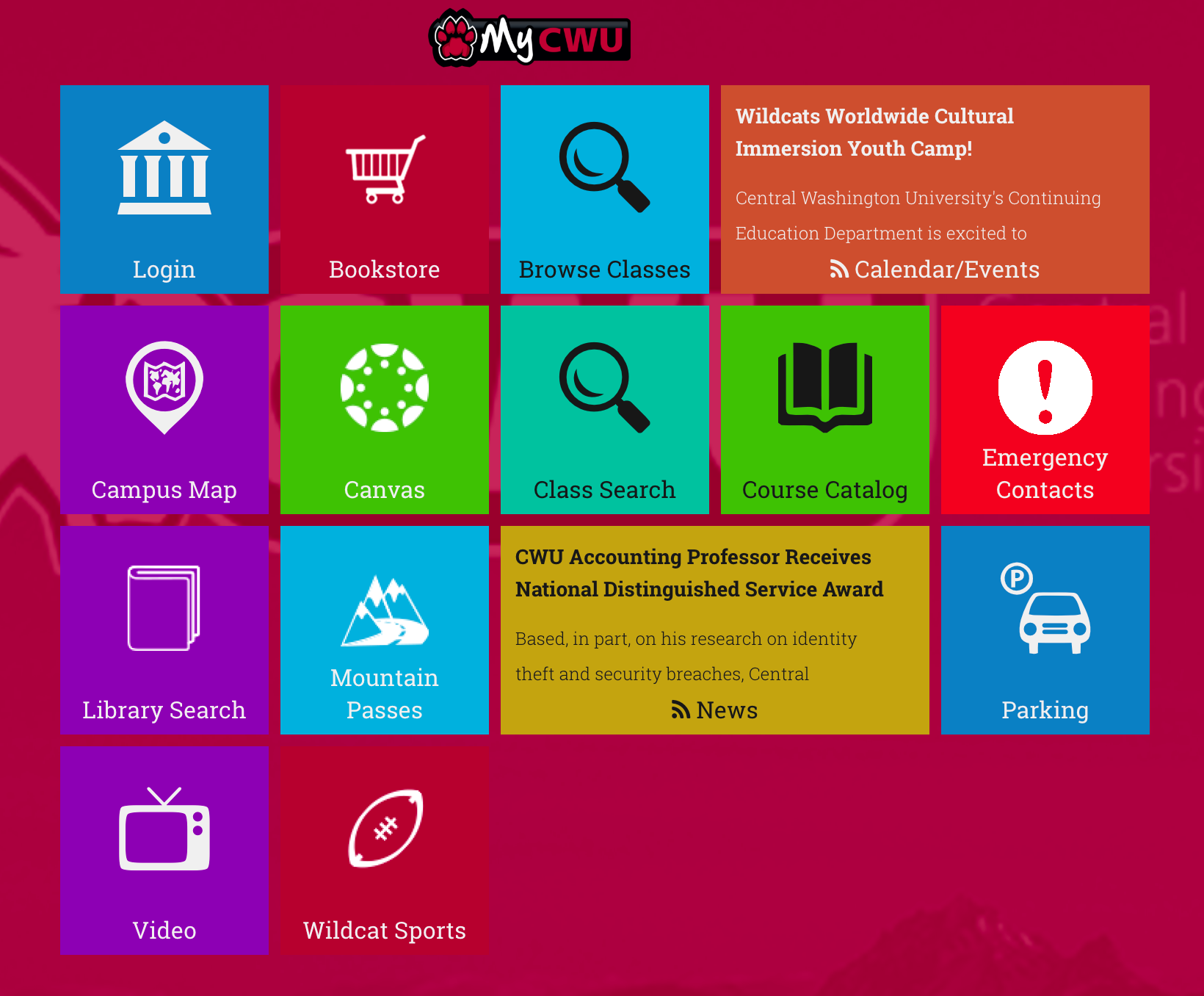 Cwu Mobile Application Central Washington University Acalog Acms
