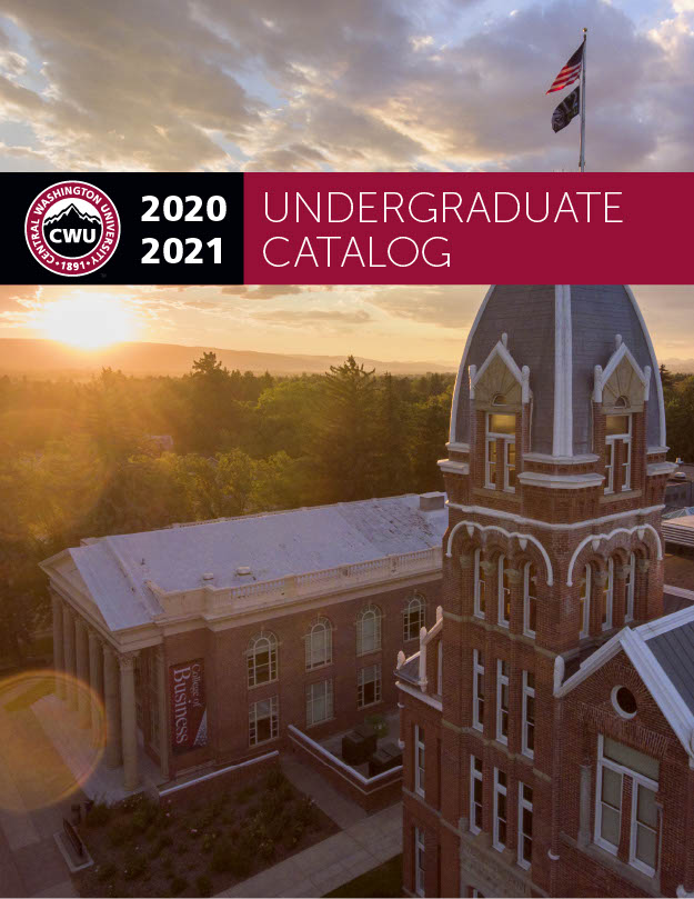 2020-2021 CWU Undergraduate Catalog Cover Picture Barge and Shaw-Smyser Halls